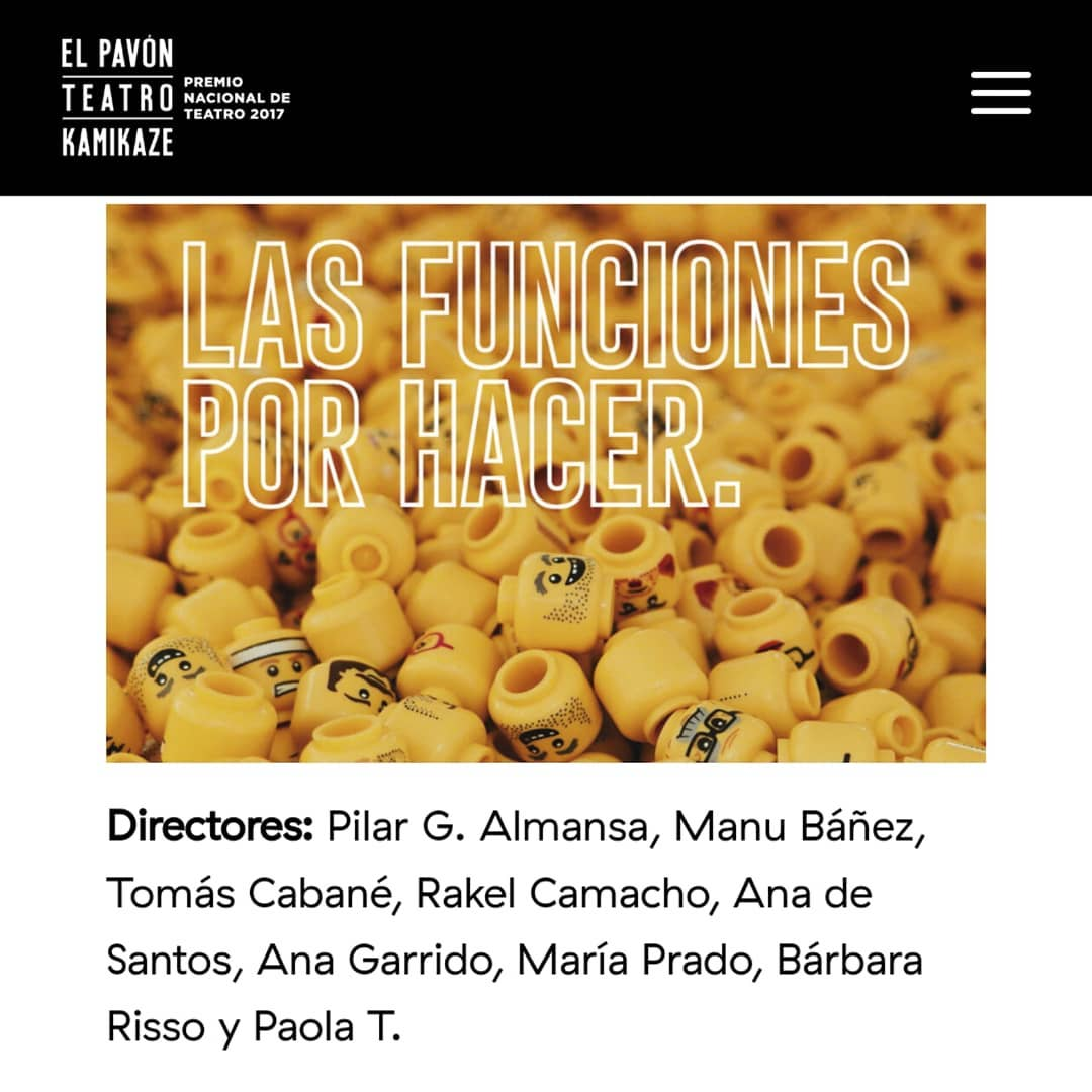 María Prado dirigirá en «Las funciones por hacer» en Teatro Pavón Kamikaze